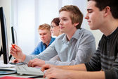 Students in a computer classroom — Stock Photo