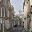 Old houses in verwerijstraat, middelburg — Stock Photo