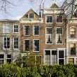 Old houses on damplein, middelburg - Stock Photo