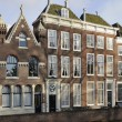 Stock Photo: Old houses detail, middelburg