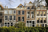 Old houses on damplein, middelburg — Stock Photo