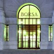 Stock Photo: Stock exchange entrance at night