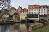 Cityscape with neckar canal, esslingen — Stock Photo