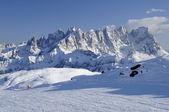 Pale range and ski-run, dolomites — Stock Photo