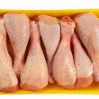 Stock Photo: Chicken shin in packing