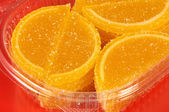Fruit candy in the form of lemon segments — Stok fotoğraf