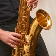 Stock Photo: Musiciplays saxophone