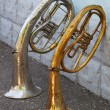 Stock Photo: Two old trumpets