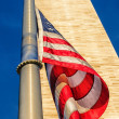 Washington Monument and American Flag — Stock Photo #10460242