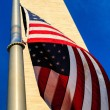 Washington Monument and American Flag — Stock Photo #10460271