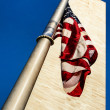 Washington Monument and American Flag — Stock Photo
