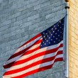 Washington Monument and American Flag — Stock Photo #10460336