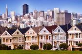 San Francisco skyline from Alamo Square — Stock Photo