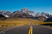 Road to fitz roy mountain — Stock Photo