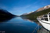 Göl del desierto tarafından tekne — Stok fotoğraf
