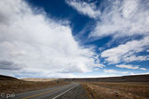 Road and stormy clouds 2 — Stock Photo