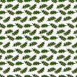 Royalty-Free Stock Photo: A pattern of small leaves of the thistle, on a white background