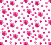 Pattern of many small azalea blossoms on white background, any extendable — Stock Photo