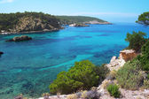 Bay and coastal scenery on the island of Ibiza — Stock fotografie
