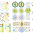 Royalty-Free Stock Vector Image: Easter scrapbook elements and invitations