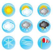 Väder ikoner set — Stockvektor