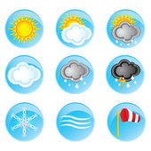 Weather icons set — Stockvektor