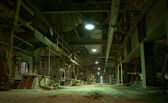 Old creepy dark decaying dirty factory — Stock Photo