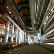 Industrial zone, Steel pipelines and valves — Stock Photo #9920164