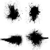 Black blots — Stock Vector