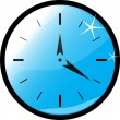 Stock Vector: Clock blue