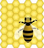 Bee a voštiny — Stock vektor