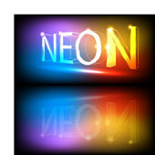 Colorfull neon lights — Stock Vector
