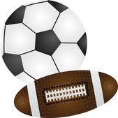 Piłki nożnej i baseball — Wektor stockowy