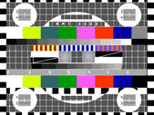 Tv color test pattern - test card, vector — Stock Vector