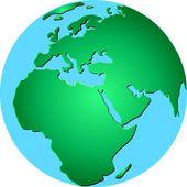 School globe, vector — Stock Vector