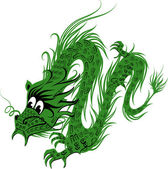 Tradition Asian Dragon Illustration vector eps 10 — Stock Vector