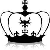 Black crown — Stock Vector