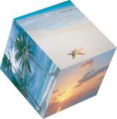 Foto cube — Stock Vector