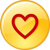 Κόκκινη καρδιά — Διανυσματικό Αρχείο