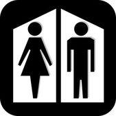 Restroom — Stock Vector