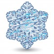 Royalty-Free Stock Vector Image: Decorative snowflake. Vector illustration.