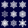 Stock Vector: Decorative snowflake. Vector illustration.
