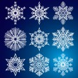 Stok Vektör: Snowflakes. Vector illustration. Seamless.