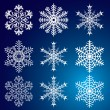 Snowflakes. Vector illustration. Seamless. - Imagen vectorial
