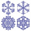 Snowflakes. Vector illustration. Seamless. — ベクター素材ストック