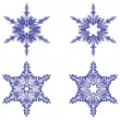 Snowflakes. Vector illustration. Seamless. — Stok Vektör