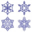 Snowflakes. Vector illustration. Seamless. — Stockvektor