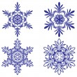 Snowflakes. Vector illustration. Seamless. - Grafika wektorowa