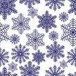 Snowflakes. Vector illustration. Seamless. — Stockvectorbeeld