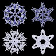 Snowflakes. Vector illustration. — ストックベクター #8552693